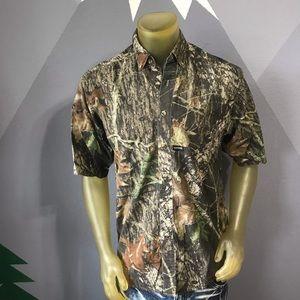 Browning Mossy Oak Button Up Shirt Small